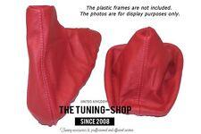 For Bmw 3 Series E36 E46 Gear & Handbrake Boot Red Genuine Leather