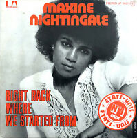 "Maxine Nightingale ‎7"" Right Back Where We Started From - France (VG+/VG+)"