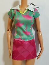 New Pink Green Flamingos Dress Barbie Fashionistas Clothes Modern Fashion