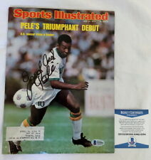 Pele signed Sports Illustrated magazine w/ RARE inscription SI Beckett BAS