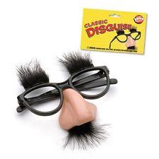 Disguise Moustache Glasses Specs Halloween Party Fancy Funny Dress Hen Nose