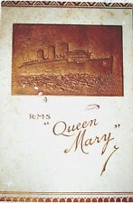 Queen Mary Passenger list 1937 NY to Southhampton
