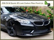 3D Style Carbon Fiber Front Bumper Add-On Spoiler Lip For 2009-2016 BMW E89 Z4