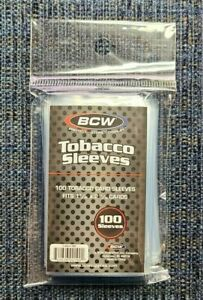 100 BCW - Tobacco Size Card Soft Sleeves - Holds Allen & Ginter & T206