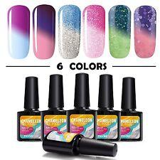 Modelones 6pcs Mood Gel Nail Polish Set,Soak Off UV Chameleon Color Changing Kit