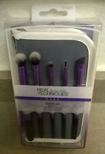 REAL TECHNIQUES by Sam & Nic Eyes Starter Set 5 Makeup Brushes w/ case NEW LOOK