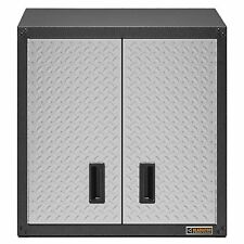 Gladiator Silver Tread Plate Garage or Shop Wall Full Door Cabinet Organizer Box