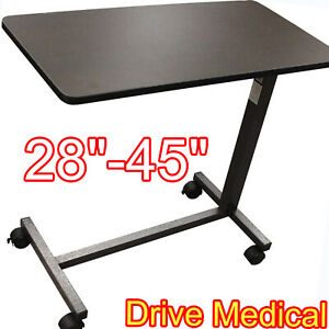 TABLE OVERBED MEDICAL TRAY Hospital Home Bed Rolling Laptop Desk Tabletop Food