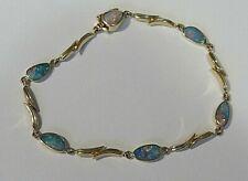 """Black Opal 14k Yellow Gold Bracelet 7"""""""