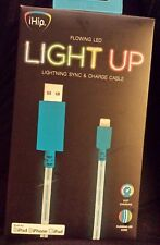 ¡Hip Flowing LED Light Up Lighting Sync & Charge Cable ¡pod ¡Phone ¡Pad Blue