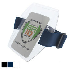 Specialist ID Armband Badge Holder with Elastic Arm Band and Hook & Loop Closure