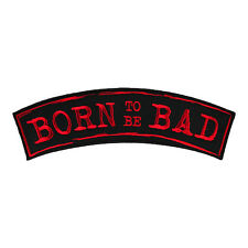 Born To Be Bad Red Rocker Patch, Kids Rocker Patches