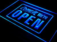 i001-b We're OPEN Shop cafe Bar Display Neon Light Sign