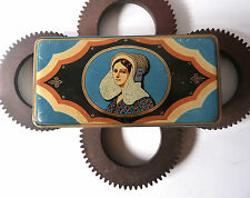 Boite à biscuit en tôle litho Geslot-Voreux 1940 French Antique Tin Box 1940s