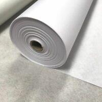Buckram Fusible Shiny Side, medium weight, white woven 1.5M x 1M Sheet
