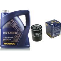 Ölwechsel Set 5 Liter MANNOL Defender 10W-40 + SCT Ölfilter Service 10164133