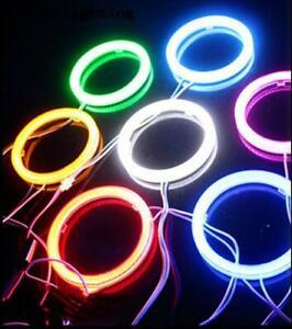 AU 12V Car Angel Eyes COB Light Halo Ring Warning Lamps 50MM-120MM 7 Colors