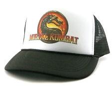 Vintage Mortal Kombat Trucker Hat mesh hat black new video game hat 1990's