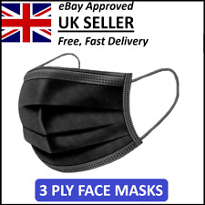 Face Mask Protective Covering Reusable Black Adult Unisex UK High Quality