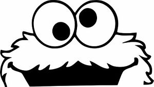 COOKIE MONSTER  DECAL IDEAL FOR BACK BOOT ,WINDOW ECT VINYL STICKER