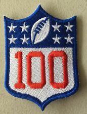 "NATIONAL FOOTBALL LEAGUE 100TH ANNIVERSARY SLEEVE PATCH 3""  NFL 2019 2020 SEASON"