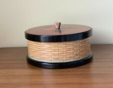 Japanese lacquer ware plastic box with lid