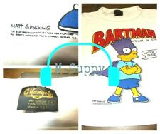 VTG BARTMAN Bart Simpson 1989 tee t shirt (S) USA Cartoon 80's RARE Avenger Evil