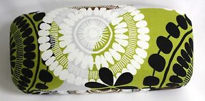 Vera Bradley Hard Large Eyeglass Sunglass Cocoa Moss Green Brown glasses case