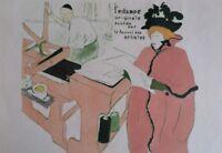 TOULOUSE-LAUTREC: LA IMPRESIÓN Original - Litografía Firmada, 1927 Por Precio