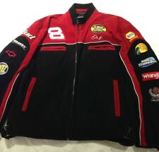 Red Black Suede Men's NASCAR Racing Car Jacket XL Earnhardt Jr Chase Quality NEW