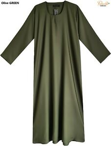 REGULAR FIT plain Dubai Abaya/Burqa With Pocket Made By Soft & Good NIDA Fabrics