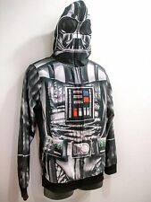 Mens Star Wars Darth Vader Hoodie Zip Up Mask Halloween Costume Size Medium NWOT
