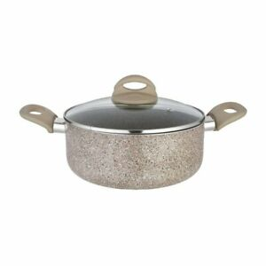 Aluminum Casserole with Lid, 22cm, Brown Pack of 1