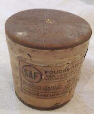 Boite poudre décapante SAF OMNIA/objet de garage/collection travail du métal.