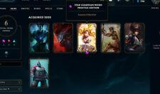 league of legends euw account prestige skin full access