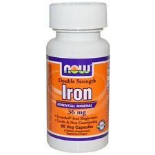 Now Foods, Iron, Double Strength, 36 mg, 90 Veggie Caps