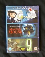 Coraline/Monster House/9 (3 Film Box Set) DVD (Region 2) *New*