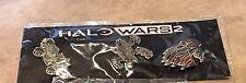 Halo Wars 2    3 Pin Set Vehicles Xbox One Promo NEW Sealed