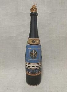 Stuart Bass Pottery / Priddoe Studio Art Pottery - Slip Technique Bottle / Vase