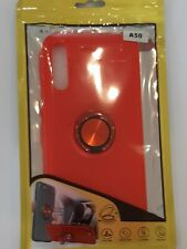 Ring cover for Samsung Galaxy A20 A30 A50. RED CASE WITH RED RING.Fast Delivery.