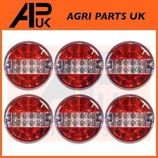6 LED 12V Round Rear Combination Brake Tail Indicator Light Lamp Tractor Trailer