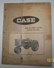 CASE 630 Series Wheel Tractor Parts Catalog B404 With Iconic Eagle Trademark