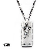 STAR WARS HAN SOLO FROZEN IN CARBONITE STAINLESS STEEL PENDANT ON CHAIN NECKLACE