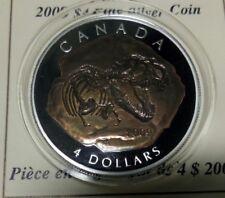 Canada 4 dollar 2009 Tyrannosaurus Rex  Silver box COA  №2