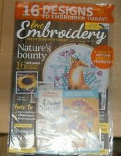 Love Embroidery magazine #5 Nature's Bounty + Iron-on Autumn harvest transfers