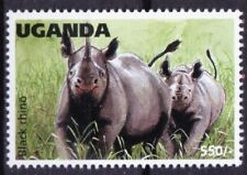 Black Rhino, Wild Animals, Uganda 1996 MNH - D5