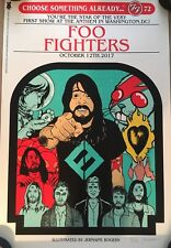 FOO FIGHTERS POSTER ANTHEM WASHINGTON DC JERMAINE ROGERS SIGNED NUMBERED OF 100