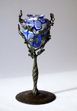 F.LLI TOSO Umberto Bellotto murano glass and iron holder murrine millefiori