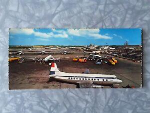 "1950s 1960s Vintage ""Kruger"" Postcard Amsterdam Schiphol Airport, Constellation"