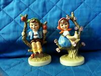 GOEBEL W. GERMANY APPLE TREE BOY AND GIRL BOTH ARE 4 '' TALL
